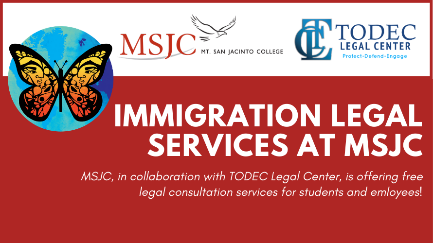 Immigration Legal Services at MSJC