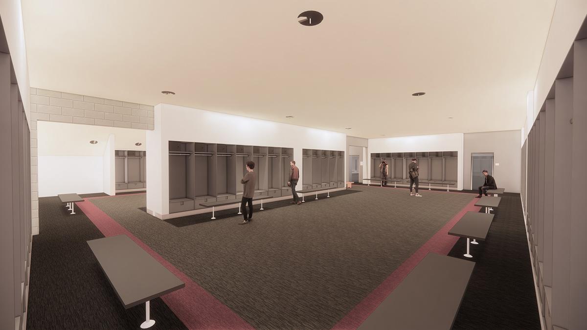 artist's rendering, locker room