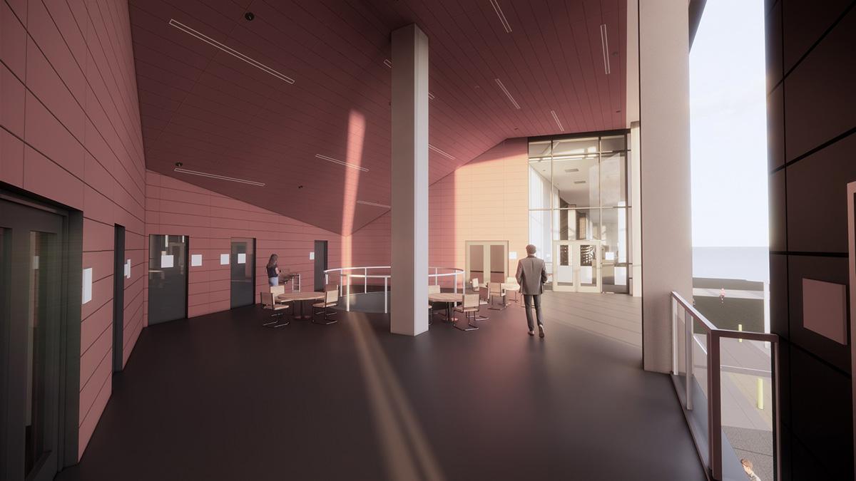 artist's rendering, interior