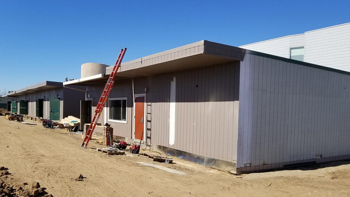 exterior in progress