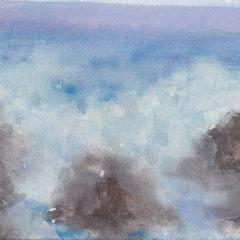 Crashing Wave Watercolor