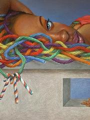 Tainted Love, colored pencil - Kaleeka Quaye