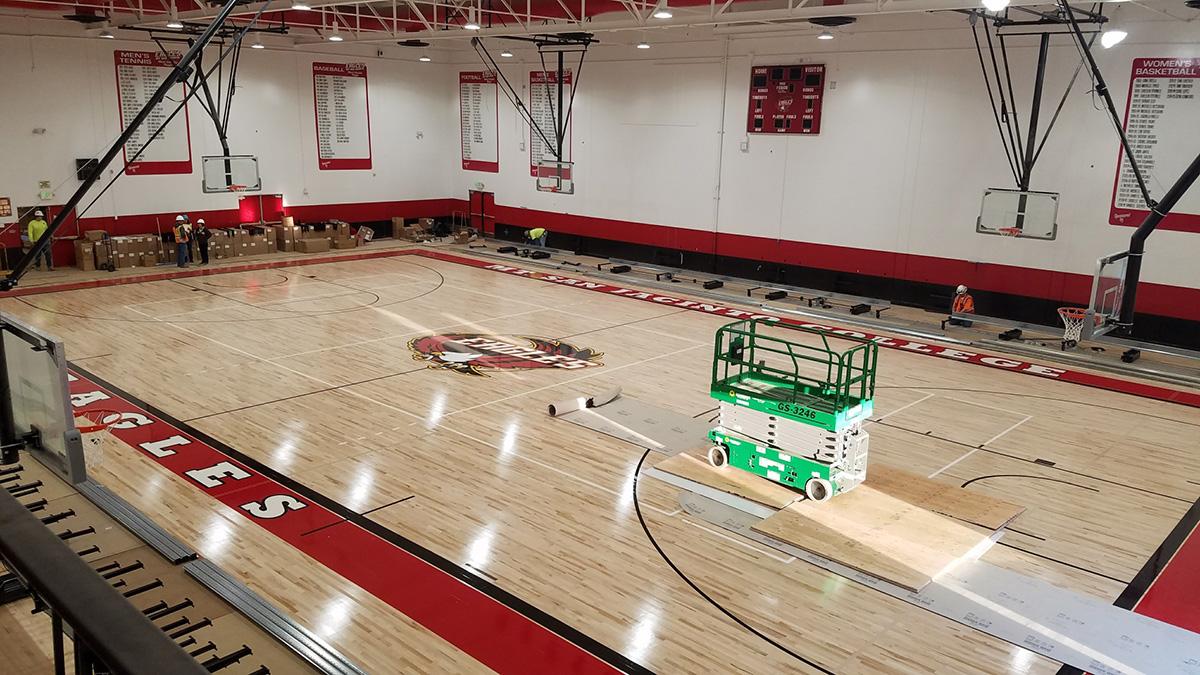gym floor construction