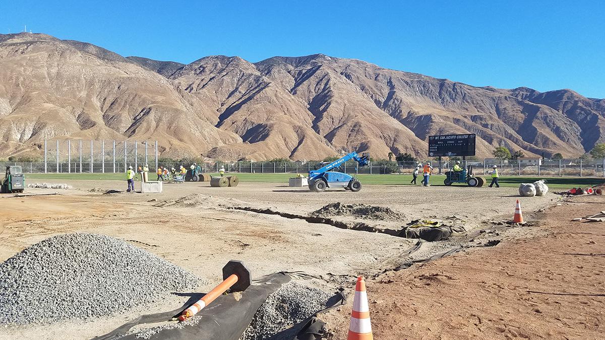 baseball field in progress