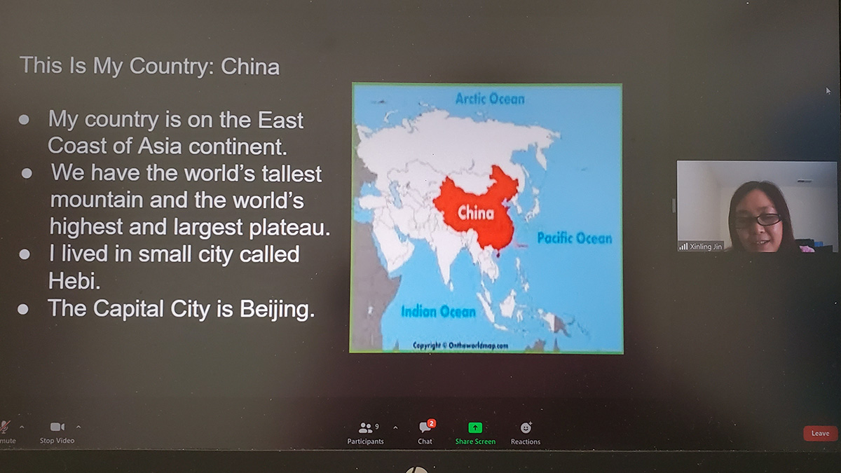 My country is: China