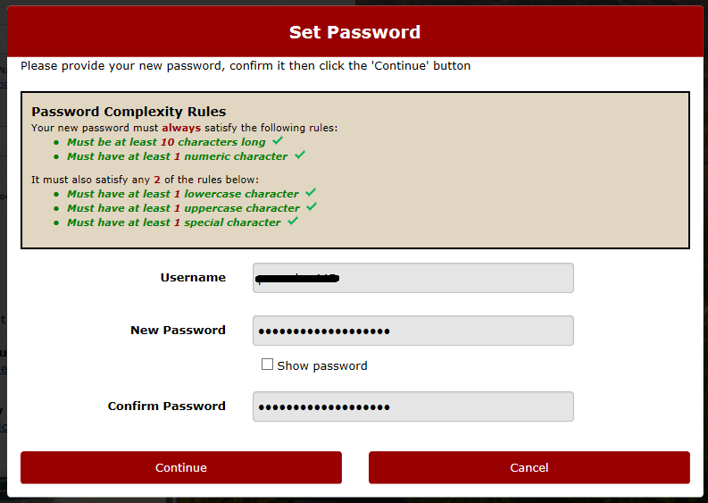 Password Complexity Requirements