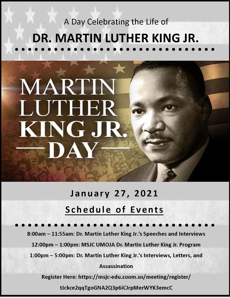 MSJC Invites Students, Public to Online MLK Celebration Event