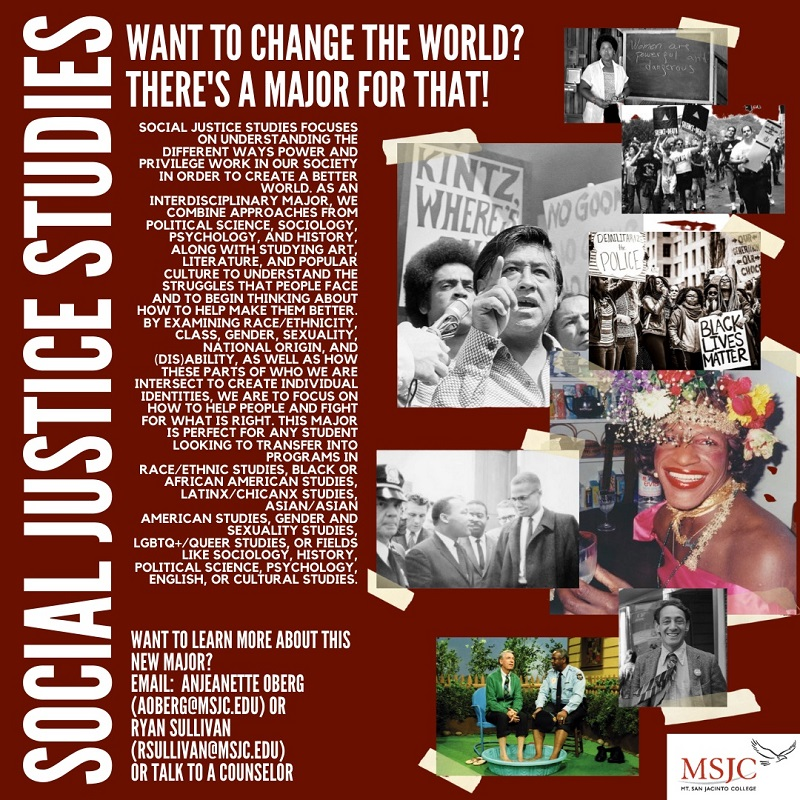 MSJC Offers New Major in Social Justice Studies