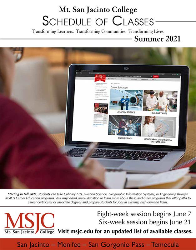 Register Now for MSJC's Summer Session