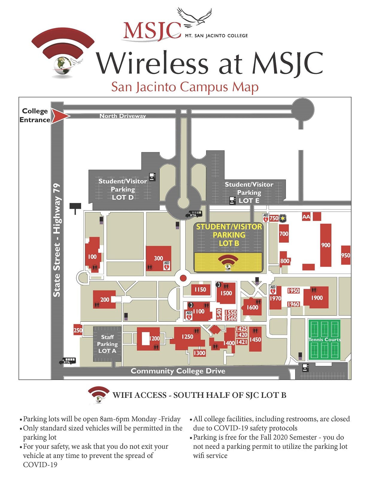 San Jacinto Campus wireless access