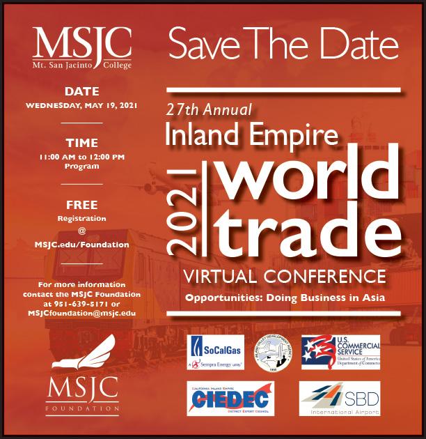 MSJC Hosts Virtual Inland Empire World Trade Conference